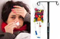 Natural cold and flu remedies, IV therapy