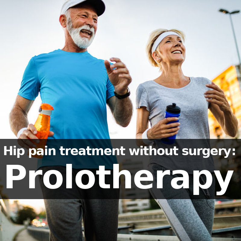 hip pain treatment without surgery: prolotherapy