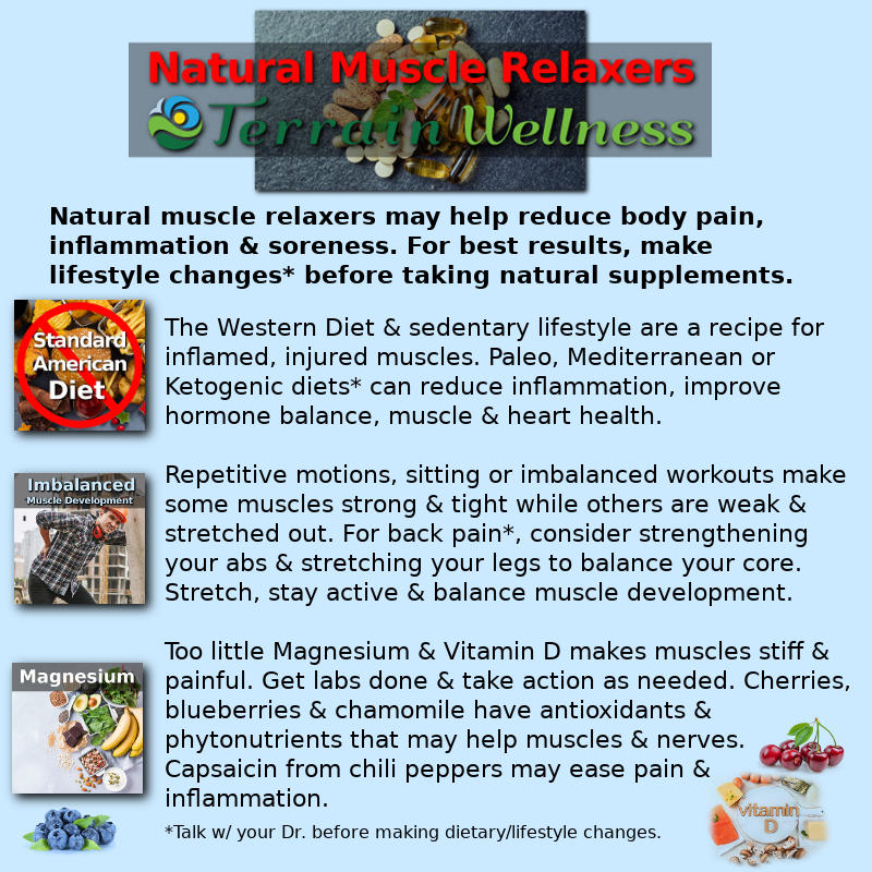 natural muscle relaxers, infographic